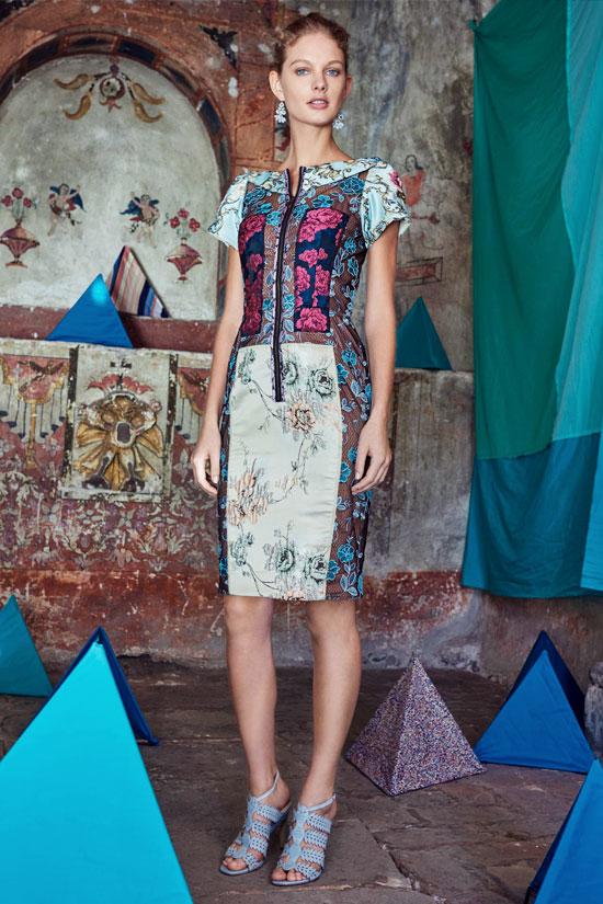 Anthropologie Byron Lars Pieced Brocade Dress