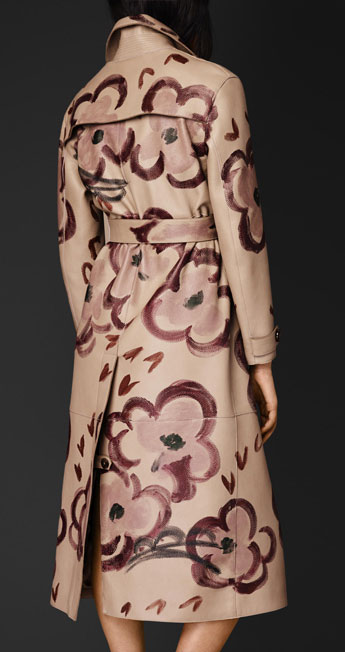 Burberry Hand Painted Trench Coat