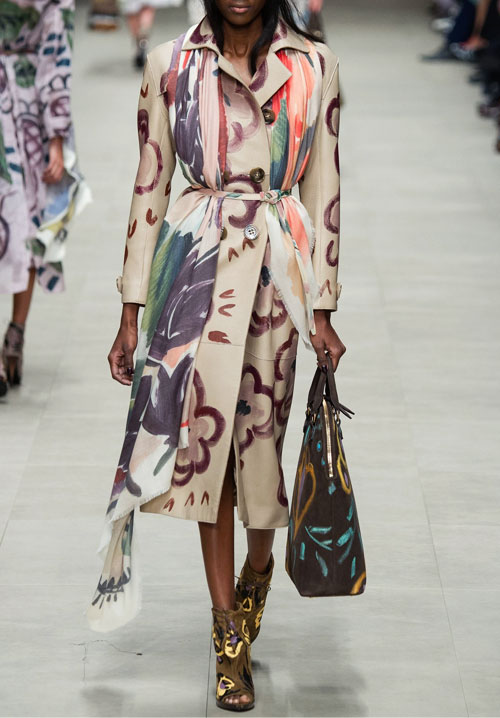 Burberry Hand Painted Trench Coat #FW14