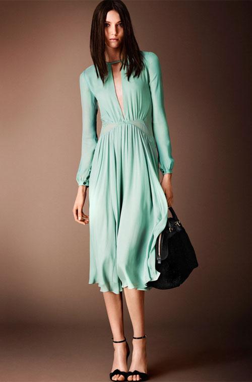 Burberry Silk Georgette Dress
