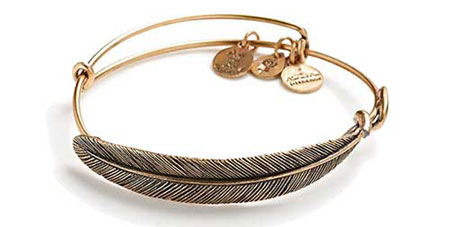 alex and ani quill feather wrap bangles