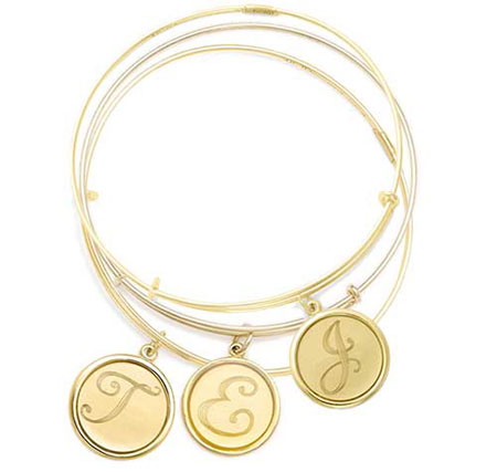 alex and ani quill precious initial charm bangles