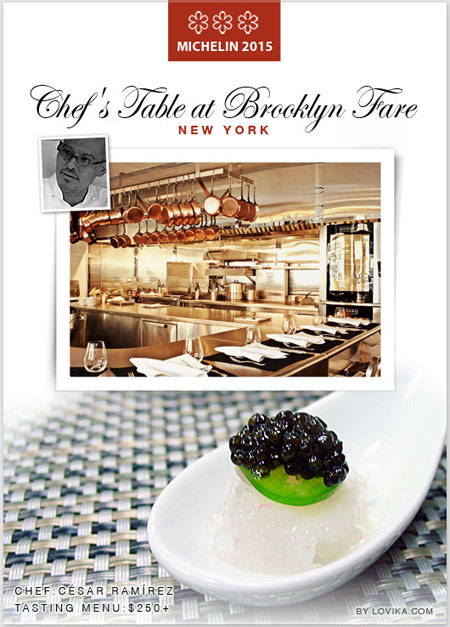 3 michelin star nyc chefs table at brooklyn fare restaurant in 2015