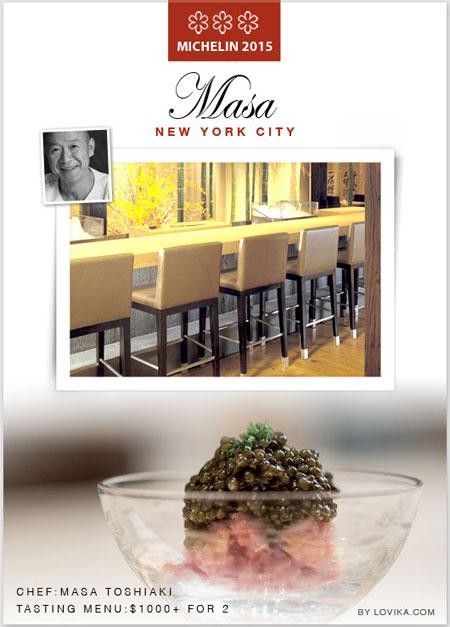 3 star michelin star restaurants usa masa sushi japanese restaurant 2015