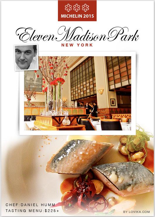michelin 3 star restaurants new york eleven madison park