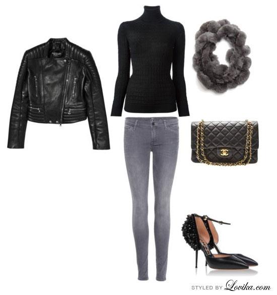 black turtleneck outfit ideas