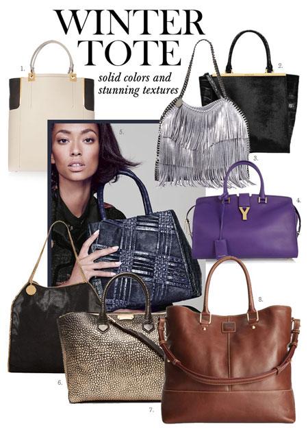 winter tote handbags 2014