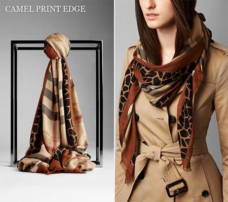 burberry-camel-print-edge-scarf