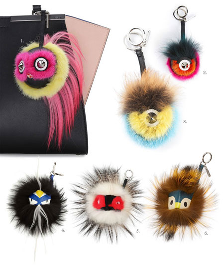 fendi keychain monster charms
