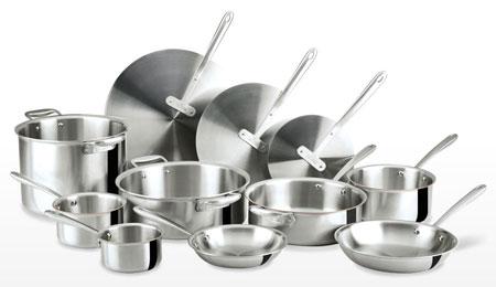 thomas keller all clad tk 11 pieces cookware