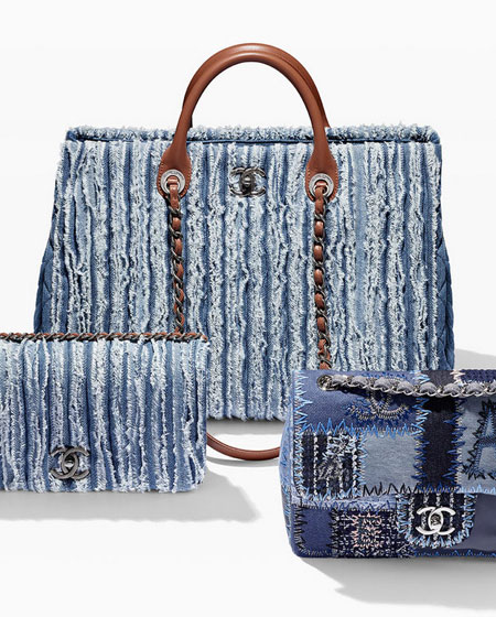 57de4ec25 Is denim the new luxury? Chanel uses denim in their $3000 handbags