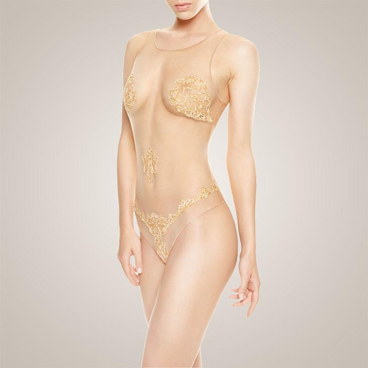 la perla paisley bodysuit