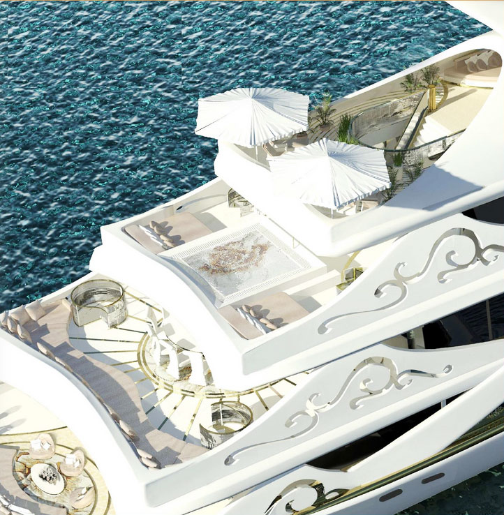 la bella yacht sun deck