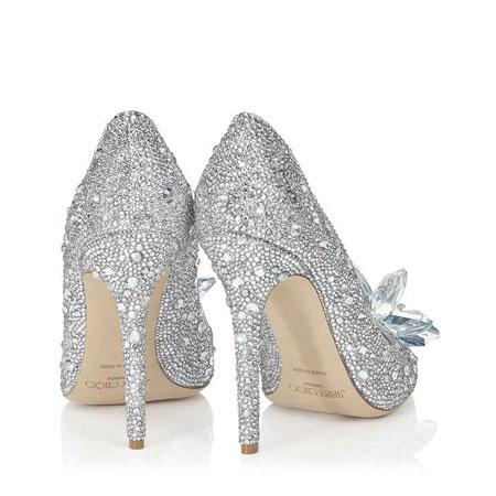back Jimmy Choo Cinderella Shoe