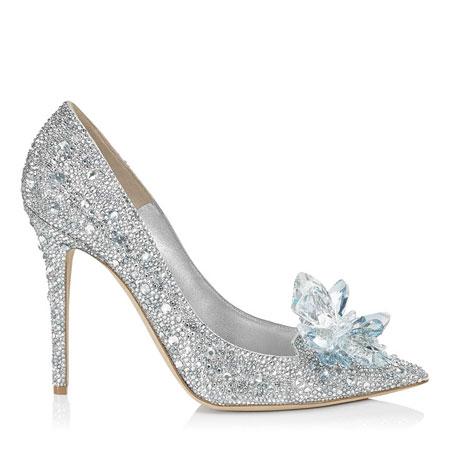 Jimmy Choo Cinderella Shoe Side View
