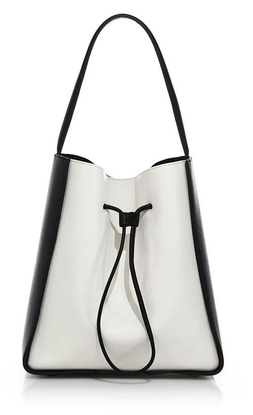 3.1 Phillip Lim Soleil Large Two-Tone Leather Drawstring Bucket Bag