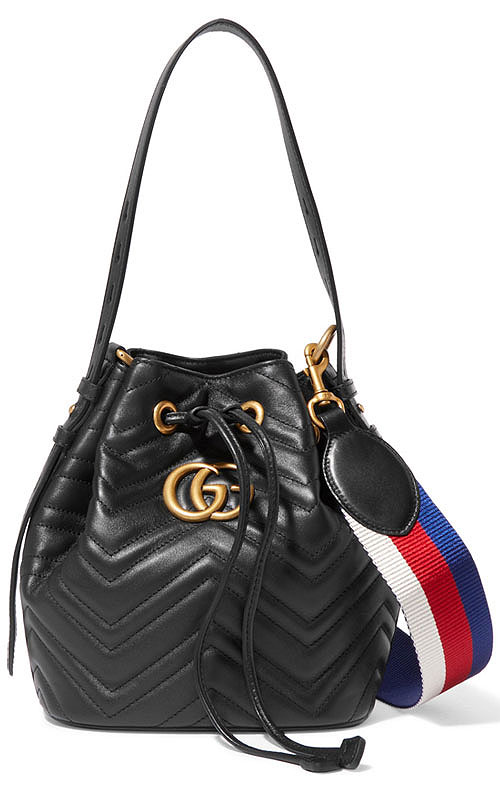 Gucci GG Marmont Quilted Leather Bucket Bag