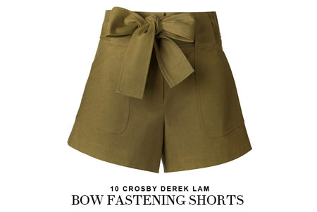 10 Crosby Derek Lam bow fastening shorts