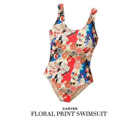 carven floral print swimsuit