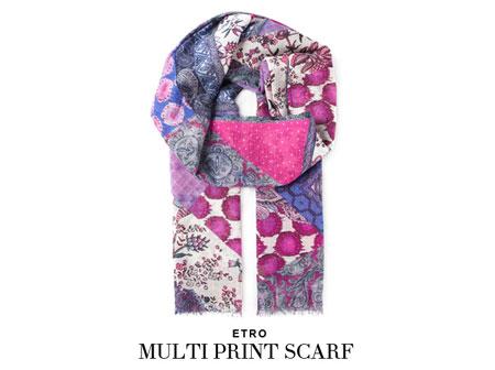 etro multi print scarf