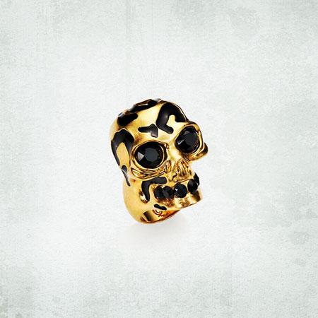 Alexander McQueen Leopard Skull Ring