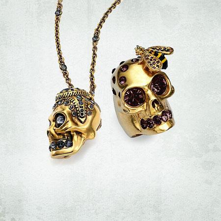Alexander McQueen Victorian Skull Pendant Necklace