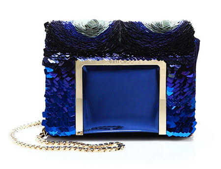 Jimmy Choo Ava Sequined Metallic Leather & Suede Shoulder Bag