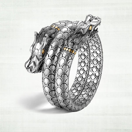 John Hardy Naga Dragon Head Bracelet