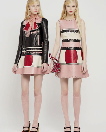 red valentino scallop dresses