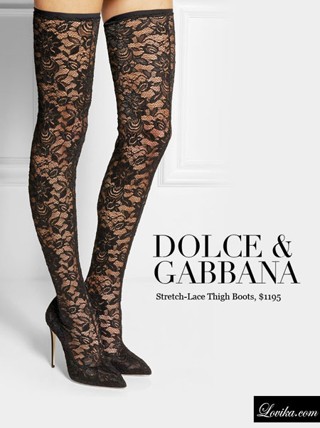 Dolce & Gabbana | Stretch-lace thigh boots