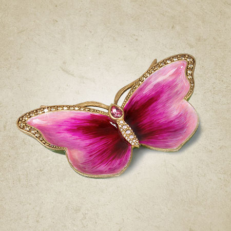 Jay Strongwater Juliet Butterfly Trinket Tray