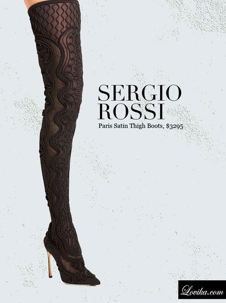 Sergio Rossi   Paris Satin Thigh Boots
