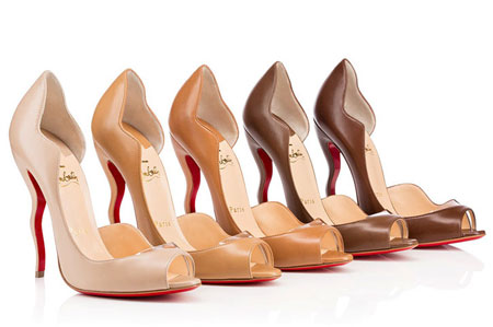 Christian Louboutin Deepik Pumps in Nude