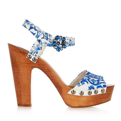 Dolce Gabbana majolica print shoes