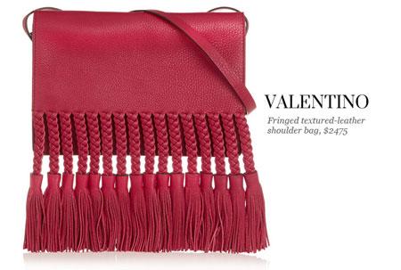 valentino fringe shoulder bag