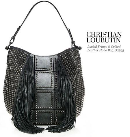 christian louboutin luckyl hobo bag