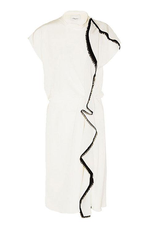 phillip lim distorted ruffle silk dress