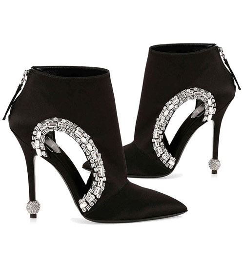 roger vivier crystal trimmed cutout booties