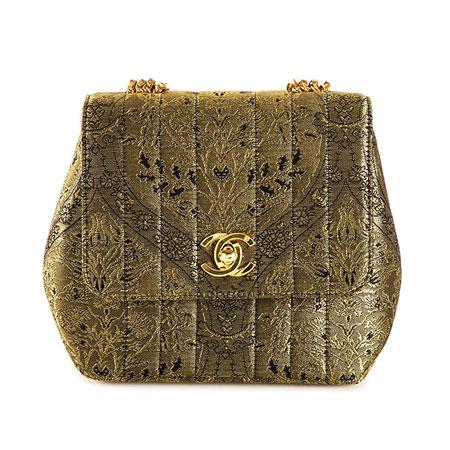 Chanel Vintage Mini Brocade Bag