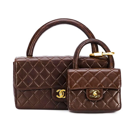 Chanel Vintage Quilted Flap Bag & Micro Bag