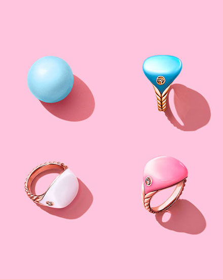 David Yurman Bubblegum Pinky Rings