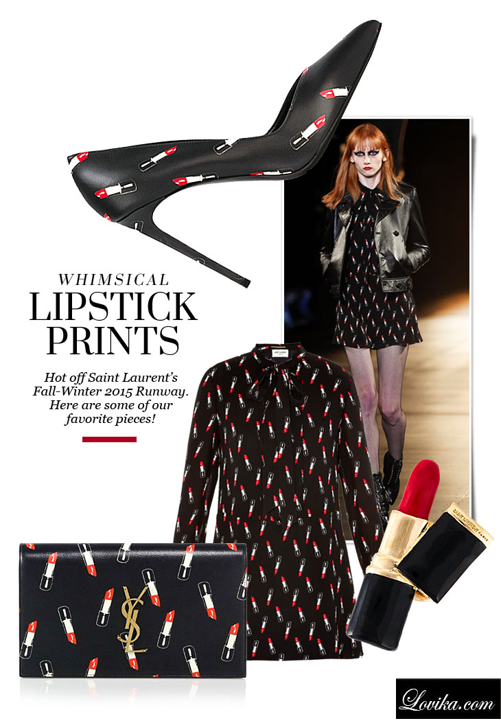Saint Laurent Lipstick Prints FW 2015 Collection