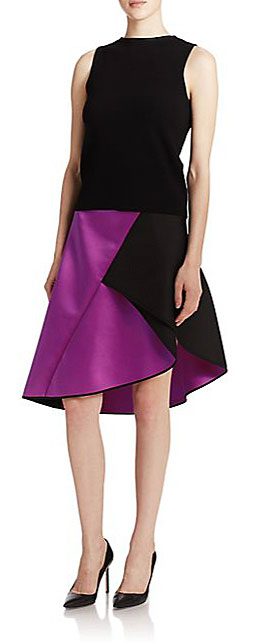 milly satin skirt