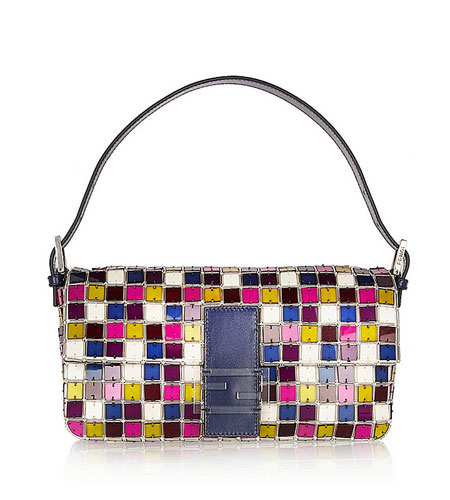 Fendi Crystal and Perspex Baguette