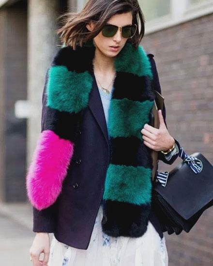Designer fur scarves