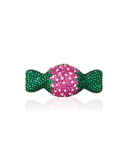 Judith Leiber Strawberry Crystal Candy Pillbox