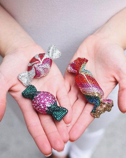 Juidth Lieber candy clutch bags