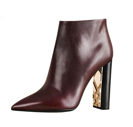 Burberry | Bamburgh Leather Point-Toe Booties