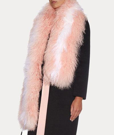 fendi shearling scarf