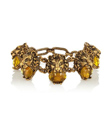 Gold-tone crystal bracelet